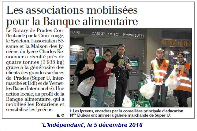 Banque Alimentaire 2016