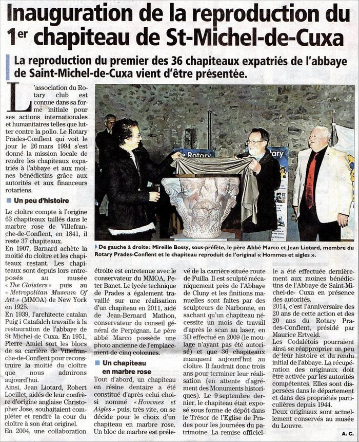 Chapiteau St Michel de Cuxa article